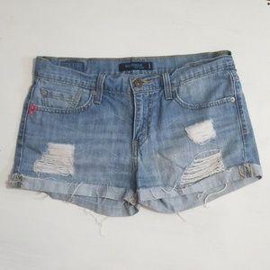 Levi's 513 Boyfriend Distressed Jean Shorts